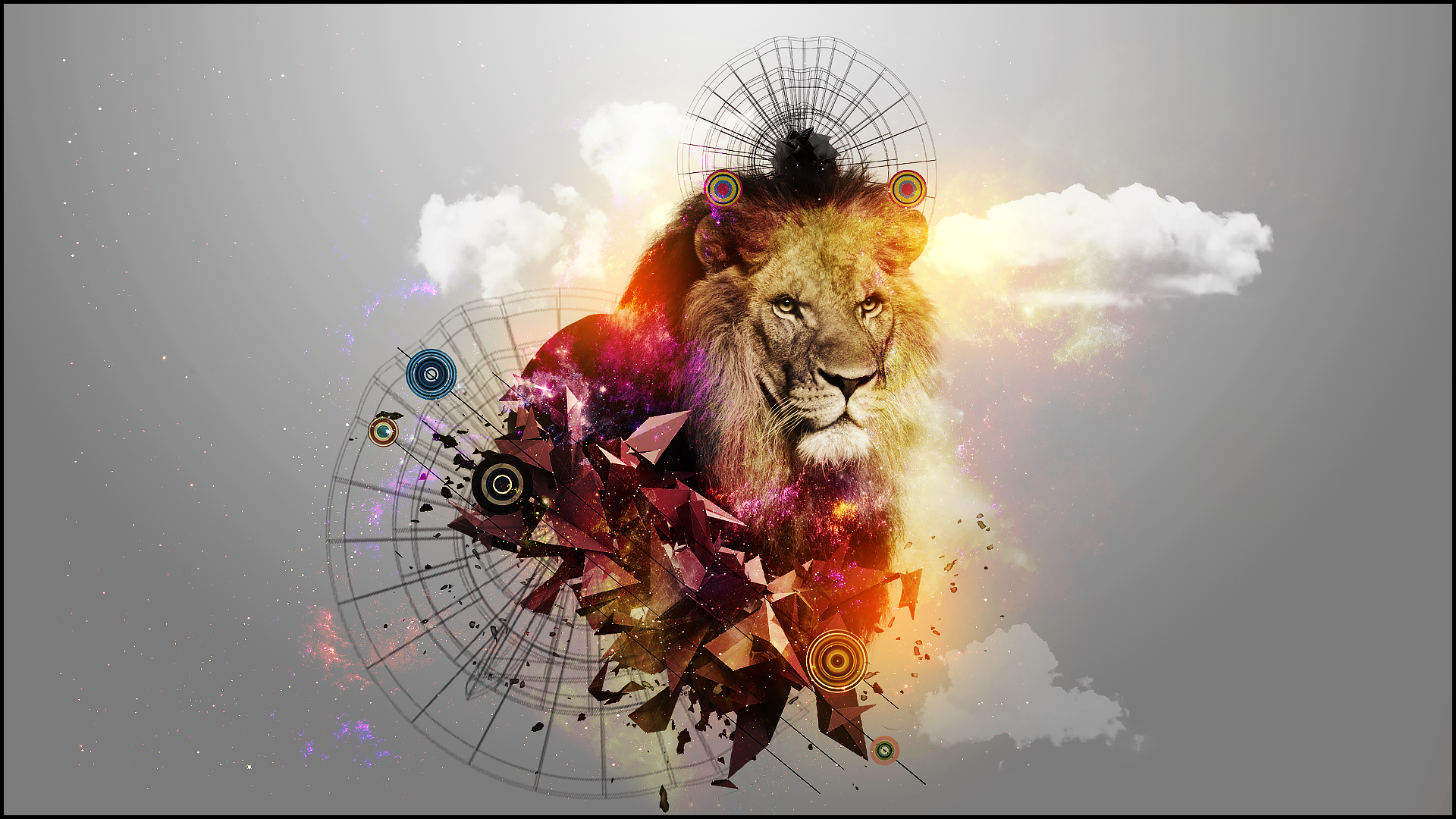 abstract lion 1920 x 1080 wallpaper by gwynbleidd93 on