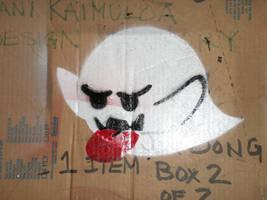 boo stencil by choni
