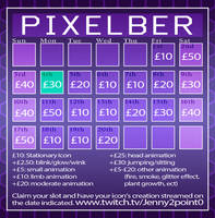 Pixelber Calendar (Discount Pixel Prices) (19/20) by Jenny2-point-0