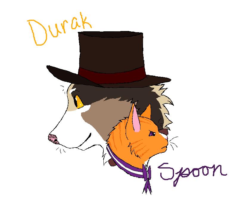 Durak and Spoon by RainDreamSezMeow