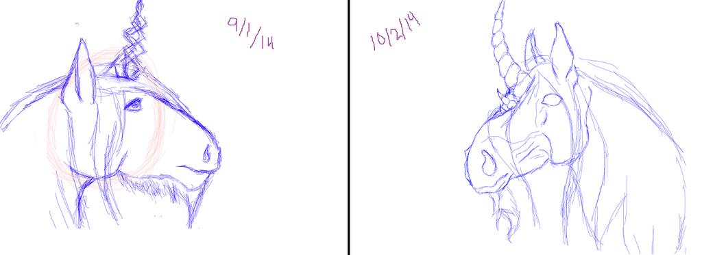A Month's Improvement by RainDreamSezMeow