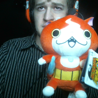 Clash with the Jibanyan plushy for Dez by lightclash