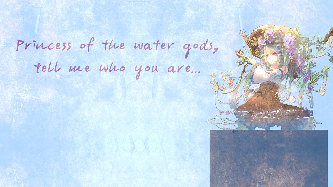 Princess of the Water Gods (Wallpaper) Kakapum@lj