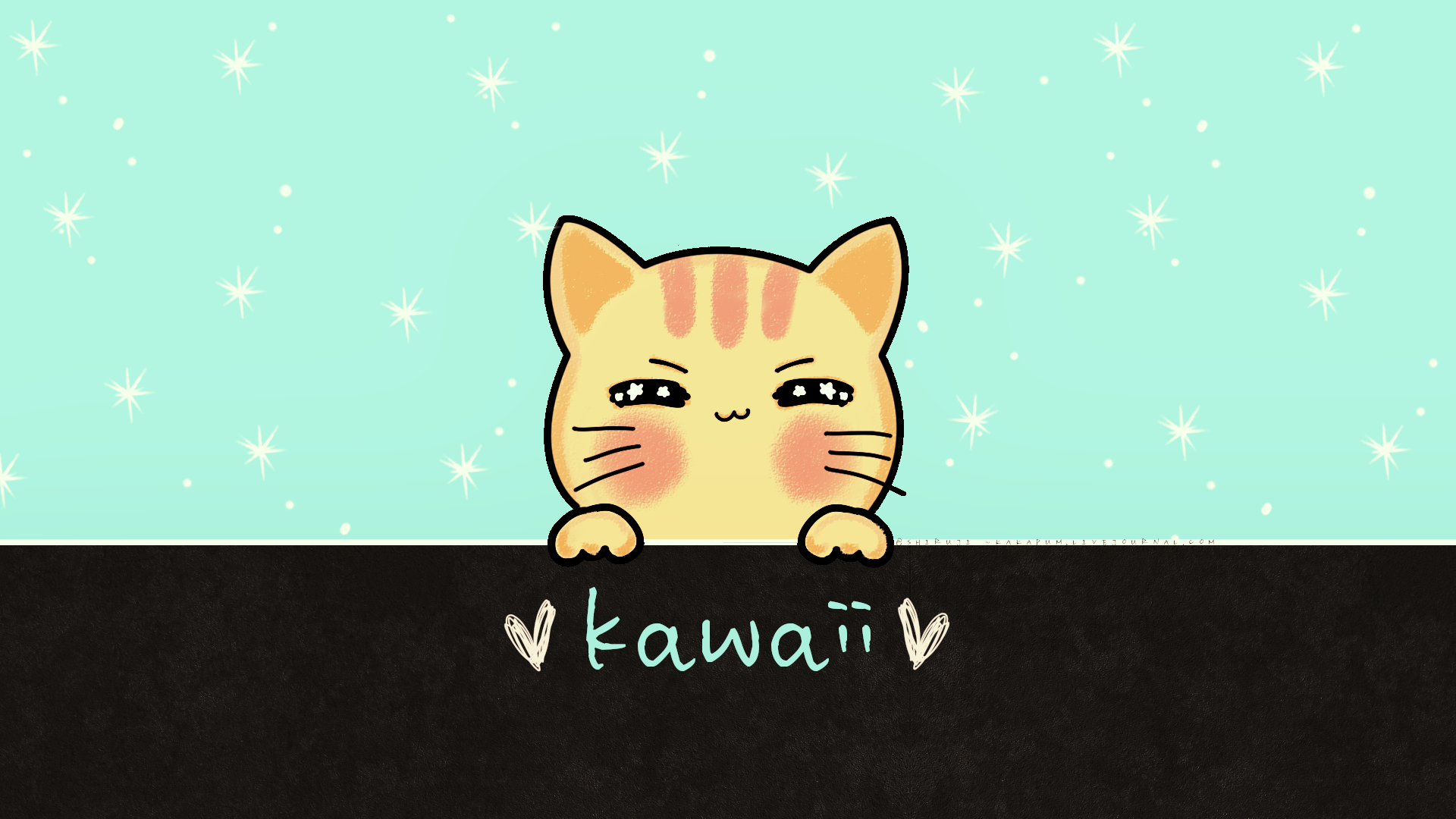 Kawaii Kat (Wallpaper) Kakapum@lj