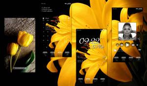 Golden Floral Minimalism