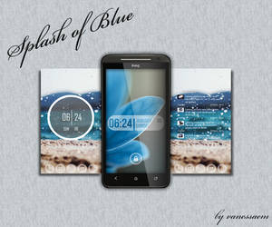 Splash of Blue by vanessaem