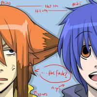 Mino n Miki: Mino, u so short. by handbeer