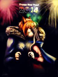 HAPPY 2014! by handbeer