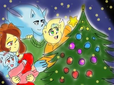 Merry christams Family  NazoxClara  by klaudiapasqui
