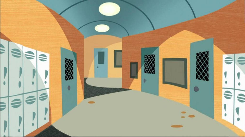 Kim Possible School hallway 1 by levi2000a on DeviantArt