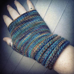 Welted Fingerless Gloves by Krysa-Mae