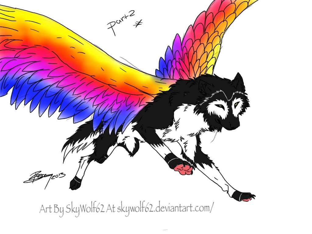 rainbow wolf wallpaper - photo #29
