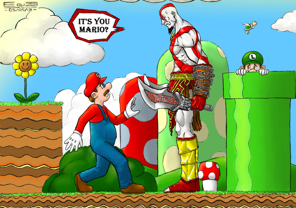 Limpurtikles Mario Colored: Mario X Kratos Colored By EGYB On DeviantArt