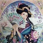 Geisha Cross stitch