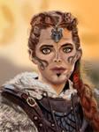 Medieval female portrait