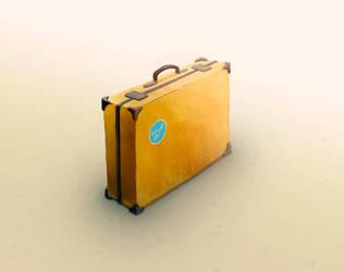 Briefcase, digital art, 2015 by Bobrovee