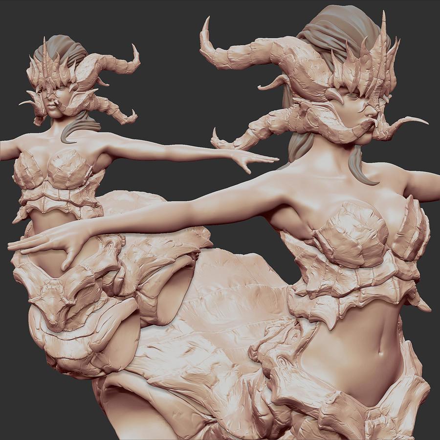 arachne_sculpt_by_explodingseashells-d5vjr7m.jpg