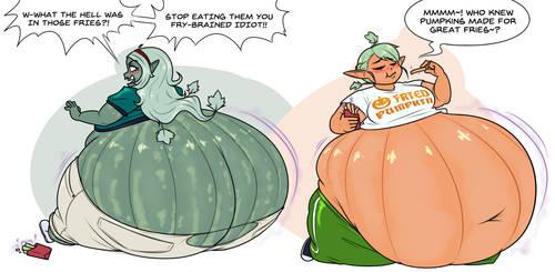 Fried Pumpkin Elves - Commission