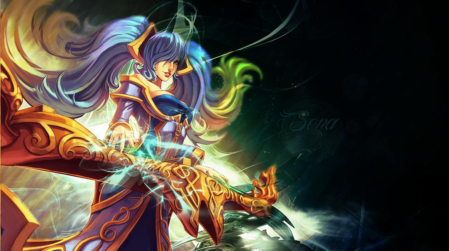 Sona Wallpaper By MissSilverFyre