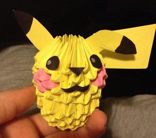 3D Origami Pikachu By Petit Chamallow