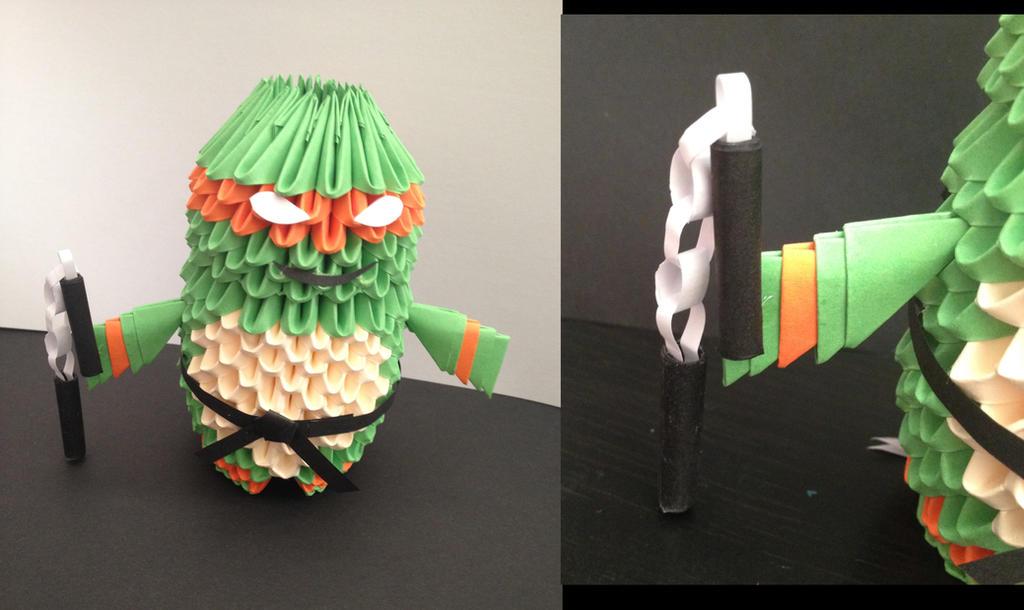 3D Origami Michaelangelo by Petit-Chamallow