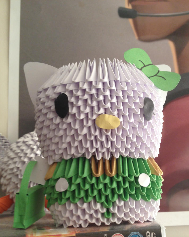 3D Origami Hello Kitty! by Petit-Chamallow