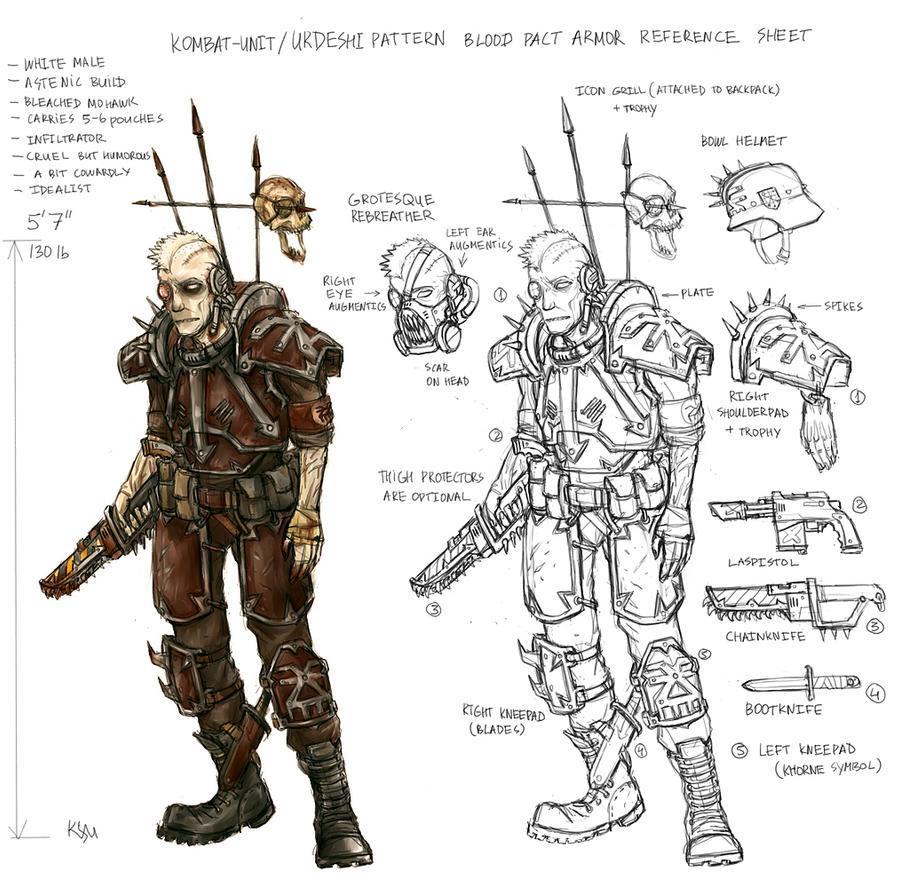 Abhuman Cultists of Khorne Kombat_unit_Urdeshi_armor_Ref_by_torture_device