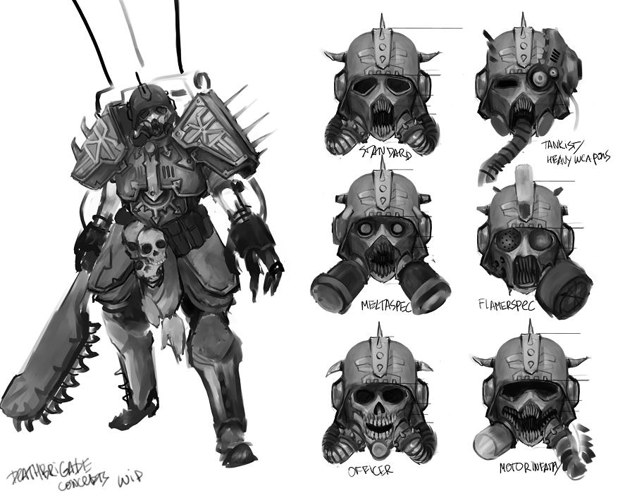 Death Brigade concepts WIP by TD-Vice