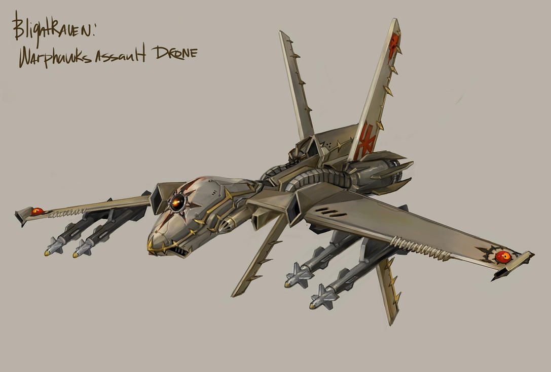 Warphawks - Blightraven drone by TD-Vice