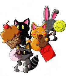 Cute animals by Yoishi