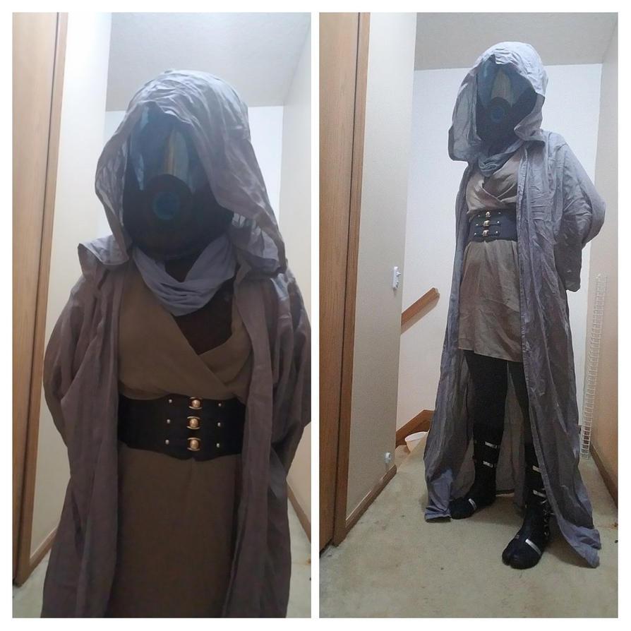 Quick Quarian Jedi by dawntempest