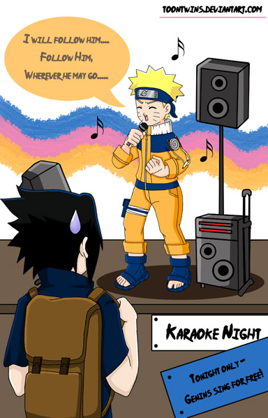 Ninja Karaoke Night by ToonTwins