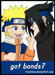 Genin Naruto and Chuunin Sasuke Badge