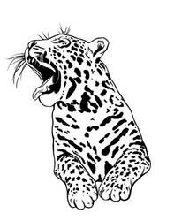 Yawning Jaguar by salakuljettaja