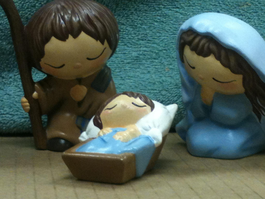 Nativity Close Up - Holy Family. by khytten