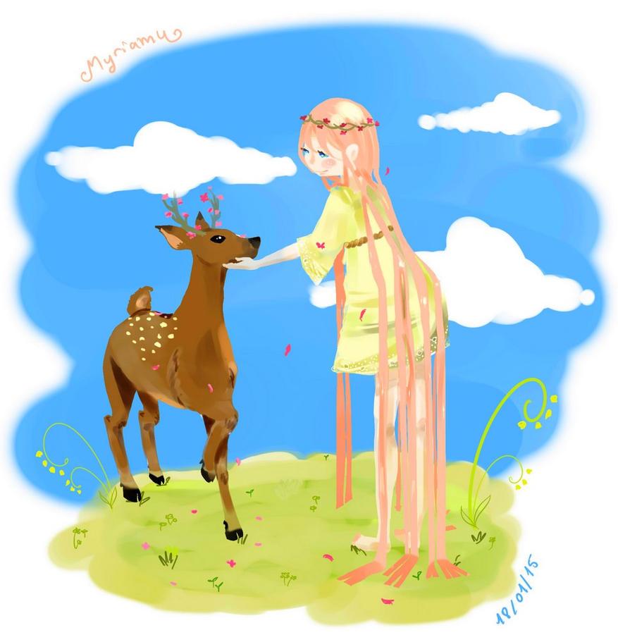 deer deer deer~~ by Myriamu