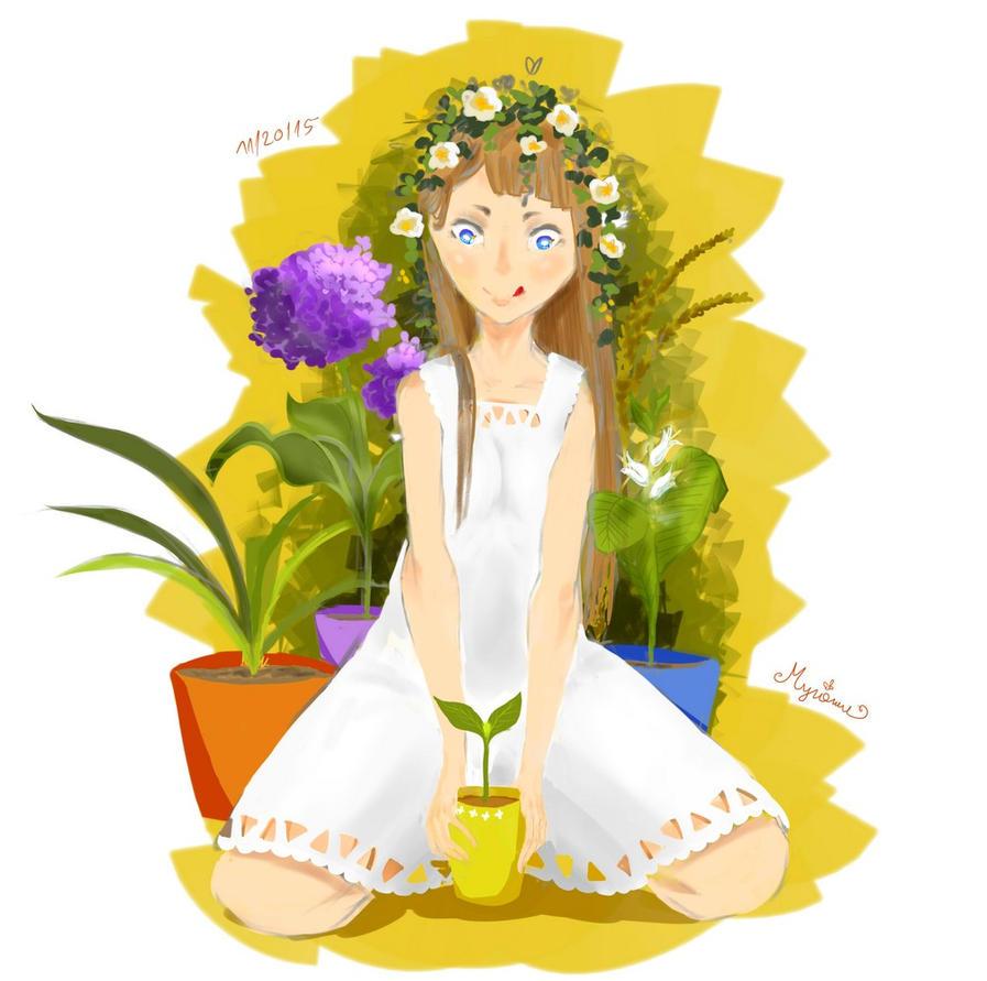 gardening by Myriamu