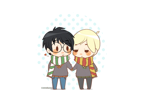 Drarry Chibi: Chibi Drarry- Taking A Stroll By Cremebunny On DeviantArt