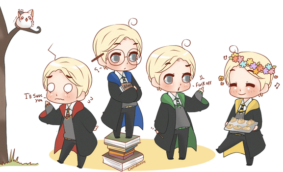 Chibi Draco - House Spirit! by Cremebunny