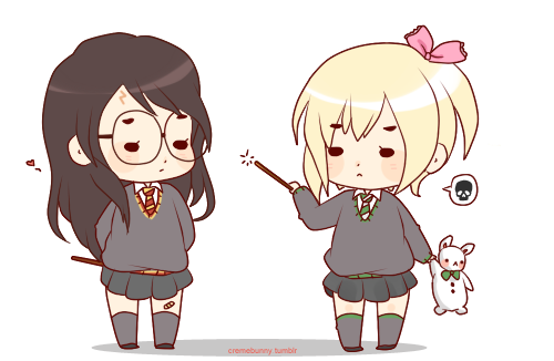 Drarry Chibi: Chibi Genderbend!Drarry By Cremebunny On DeviantArt
