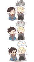 Chibi Drarry - Rainclouds