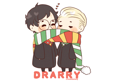 Drarry - Scarf sharing
