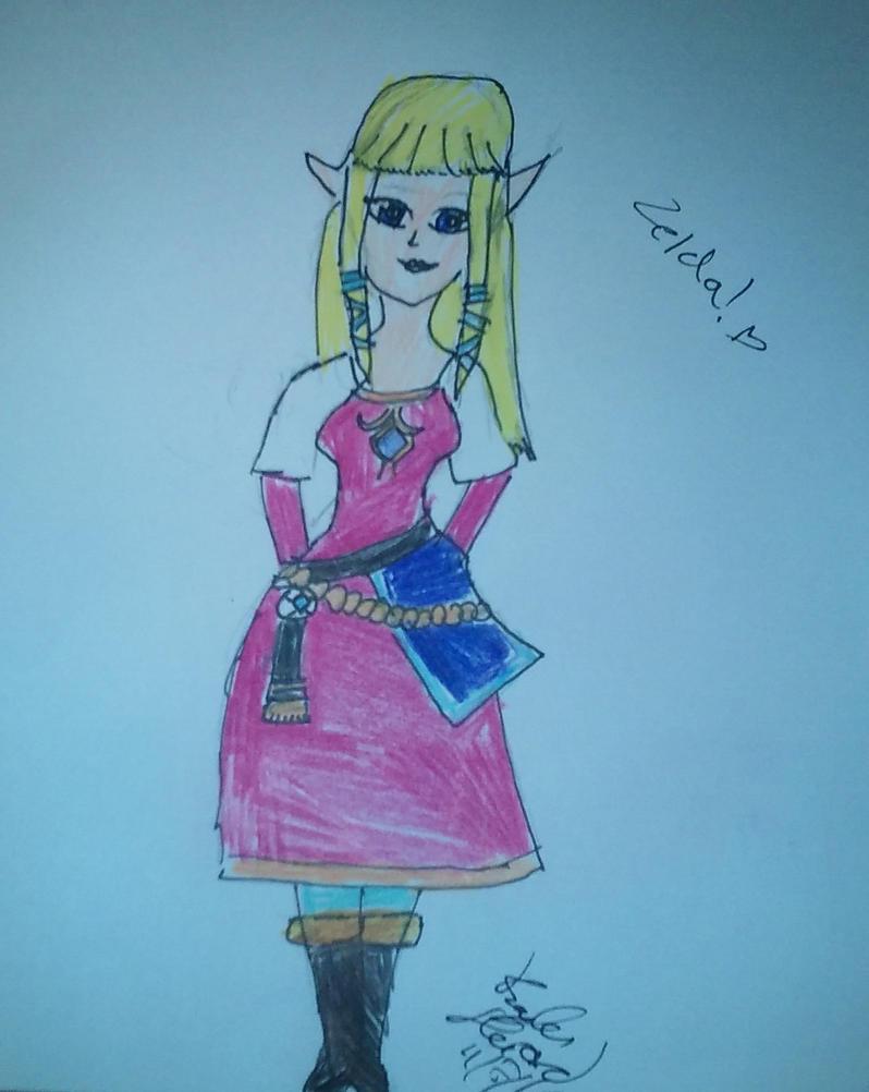 Skyward Sword Zelda by karutimburtonfan