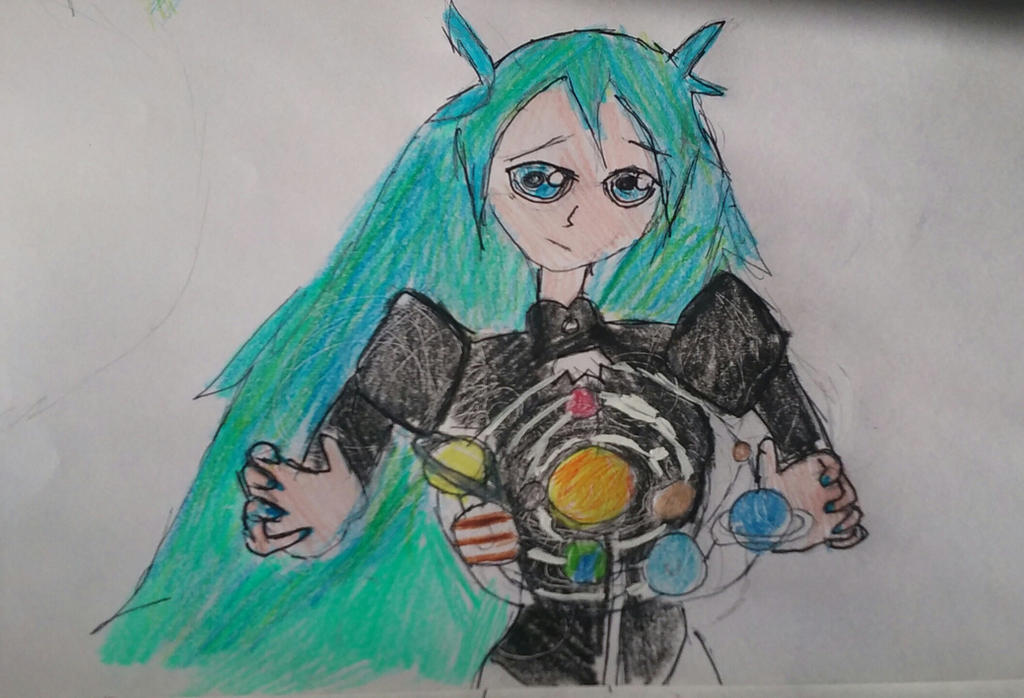The Solar System in my hands by karutimburtonfan