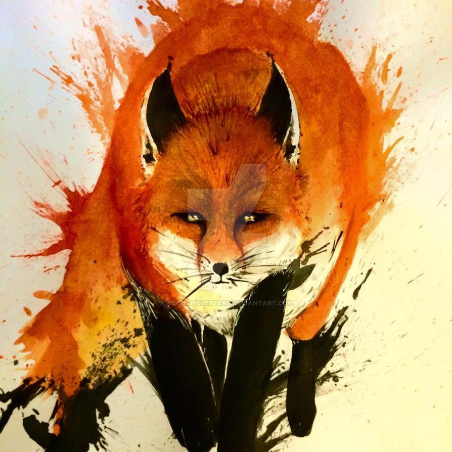 Fox tattoo design -kitsune- by Acousticletters