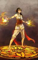 fire caster by chibi-oneechan