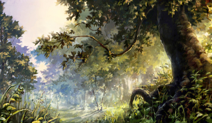 forest scene by chibi-oneechan