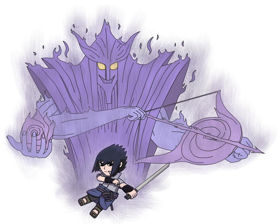 Susanoo Sprite: Sasuke And Susanoo By Akabuu On DeviantArt