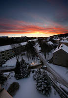 winter sunrise by Lunox-baik