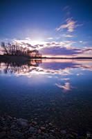 sunset reflection by Lunox-baik